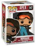 Фигура Funko POP! Games: Apex Legends - Mirage (Translucent) #547 - 2t