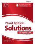 Комплект за учителя Solutions 3E Pre-Intermediate ESS TB & RES Disk Pack - 1t