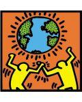 Квадратен пъзел Educa от 1000 части - Човекът и светът, Кийт Херинг - 2t