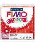 Полимерна глина Staedtler Fimo Kids - блестящ червен цвят - 1t