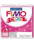 Полимерна глина Staedtler Fimo Kids - блестящ розов цвят - 1t
