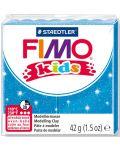 Полимерна глина Staedtler Fimo Kids - блестящ син цвят - 1t