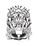 Тениска RockaCoca Skull King, бяла, размер L - 2t