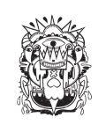 Тениска RockaCoca Skull King, бяла, размер M - 2t
