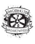 Тениска RockaCoca The Wheel, бяла, размер L - 2t