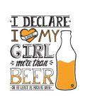 Тениска RockaCoca More than beer, бяла, размер XL - 2t