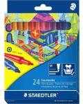 Цветни флумастери Staedtler 325 - 24 цвята, изпиращо се мастило - 1t