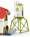 Комплект фигурки Schleich - Силоз за зърно с животни - 4t