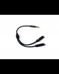 Сплитер за слушалки XtremeMac - черен - 1t