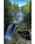 Пъзел SunsOut от 550 части - Мечки на водопада, Кевин Даниел - 1t