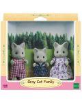 Комплект фигурки Sylvanian Families - Семейство котета, сиви - 1t