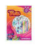 Комплект за оцветяване Trolls A4 Poster Set - 1t
