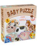 Бебешки пъзел D-Toys 6 в 1 - Животните от фермата - 1t