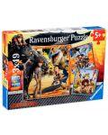 Пъзел Ravensburger от 3 x 49 части - Как да си дресираш дракон - 1t