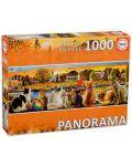 Панорамен пъзел Educa от 1000 части - Котки на кея - 1t