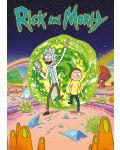XL плакат Pyramid - Rick and Morty (Portal) - 1t