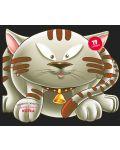 Забавните животни - залепи и оцвети: Котка - 1t