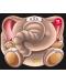 Забавните животни - залепи и оцвети: Слонче - 1t