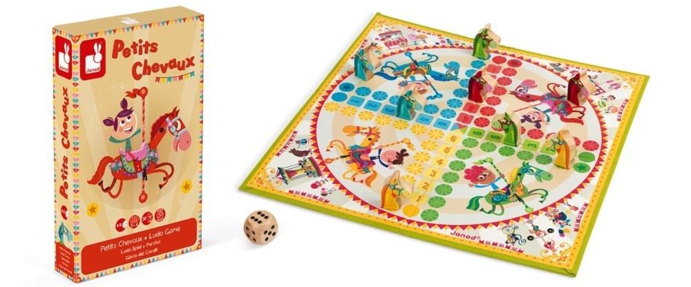 Детска настолна игра Janod Carrousel - Не се сърди човече, малките коне
