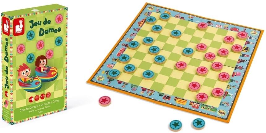 Детска настолна игра Janod Carrousel - Шашки