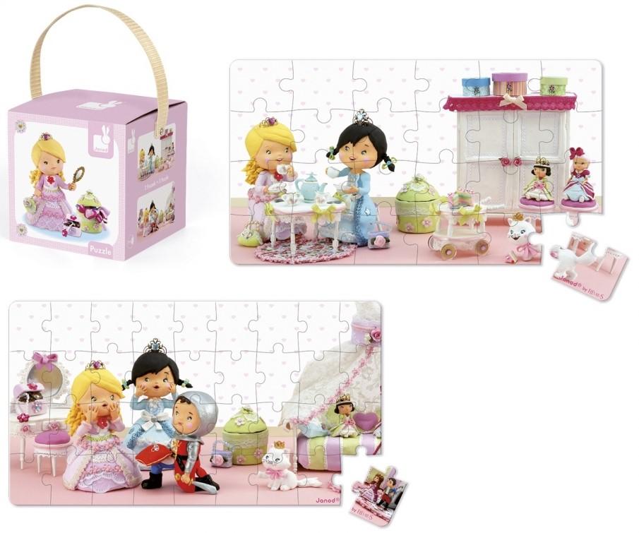 Детски пъзел Janod Lovely Puzzles - Роуз в ролята на принцеса