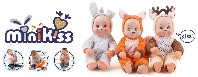 Кукла раздаваща целувки Smoby MiniKiss Animal