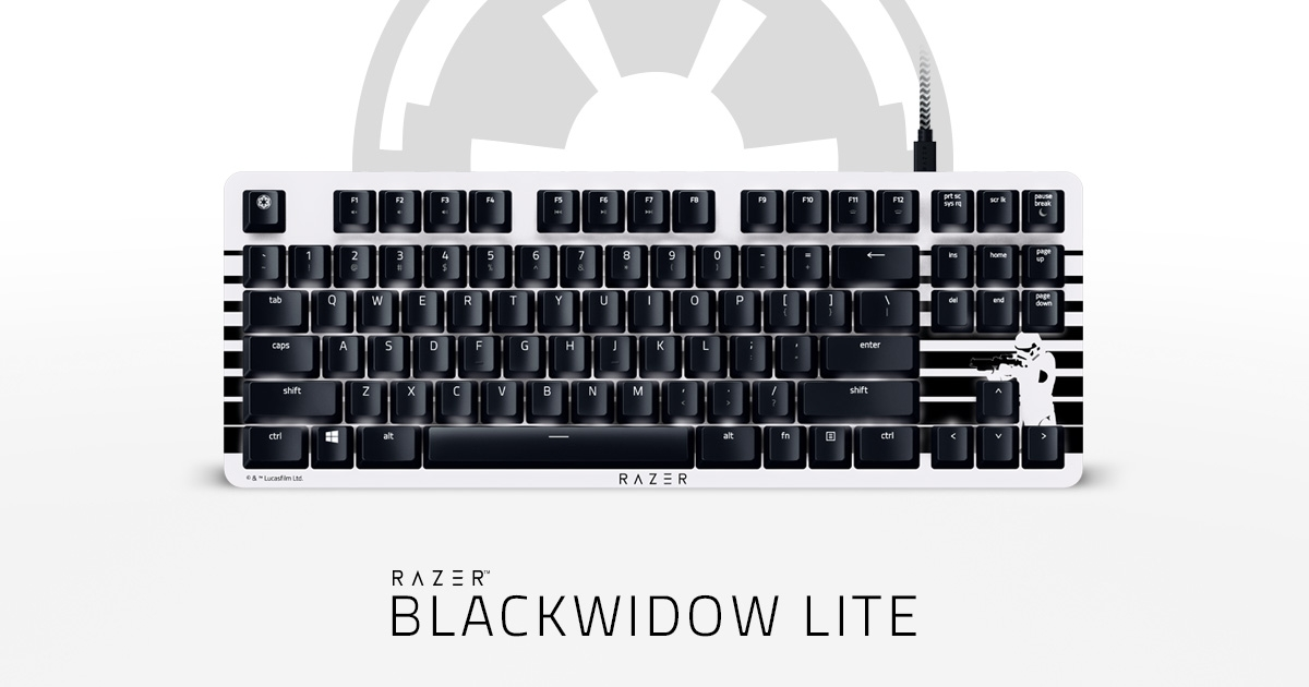Гейминг клавиатура Razer - BlackWidow Lite (Orange Switch), US Layout, STORMTROOPER Ed.