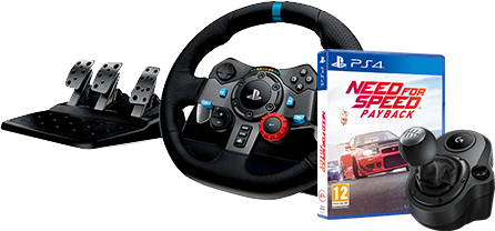 Logitech G29 Driving Force + Logitech Driving Force Shifter & Need for Speed Payback (PS4)